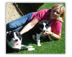 Sue with Collie puppy